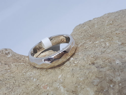 Sterling silver band ring 3.40 grams - size K
