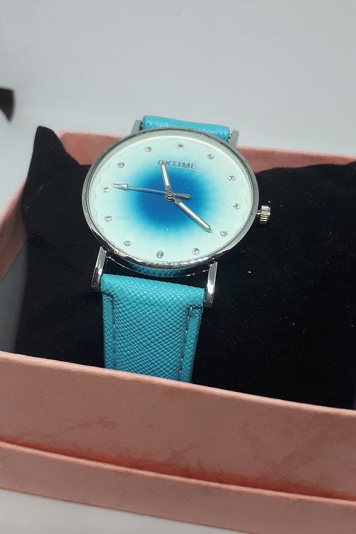 Ladies blue sunburst watch