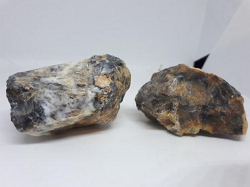 Rough black opal