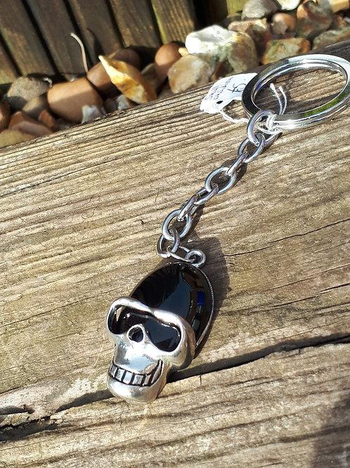 Skull Gemstone Keyring