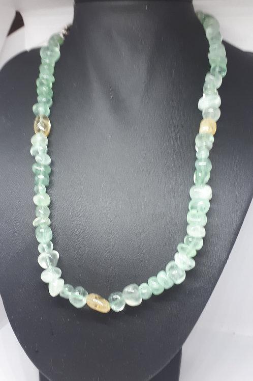 Sterling silver fluorite necklace