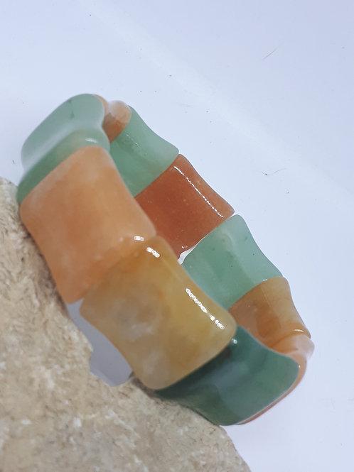 Multi coloured aventurine stretchy bracelet