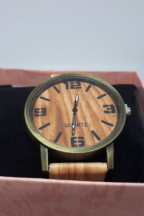 Ladies wood effect watch