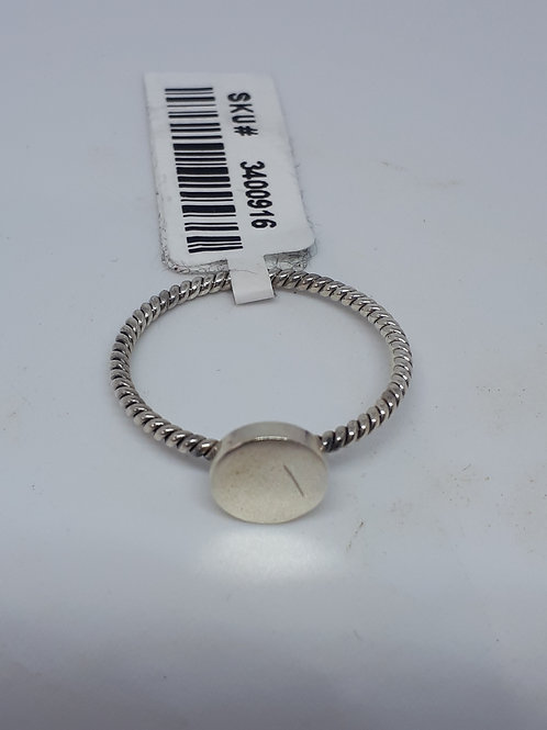 Sterling silver circle ring -UK size T