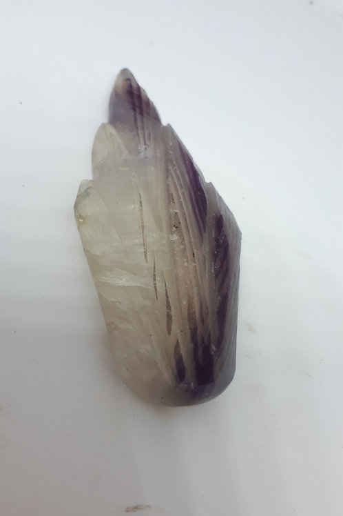 Gemstone carved feather