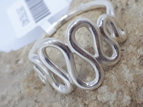 Sterling silver swirl ring - Uk ring size O