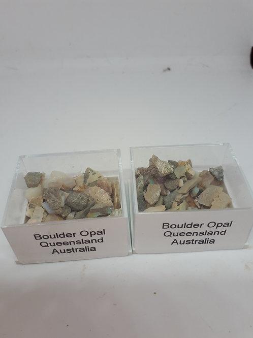 Box of boulder opal chips