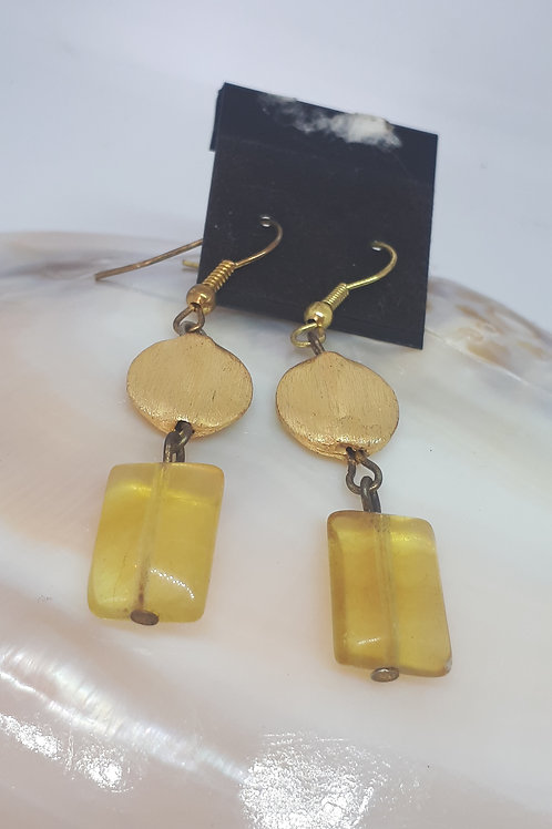 Gold plated citrine earrings