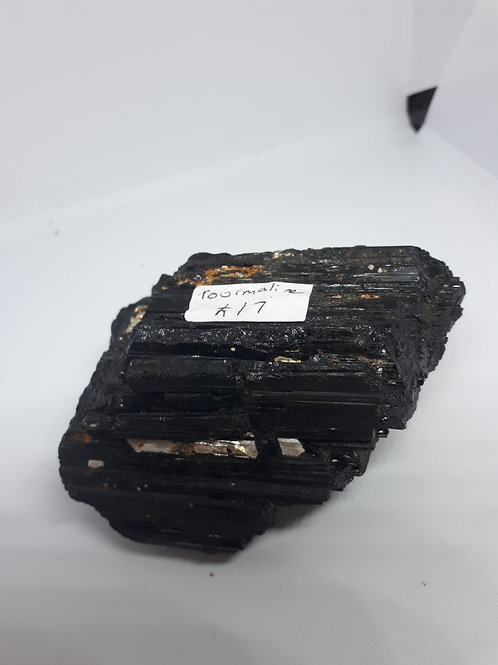 Rough black tourmaline piece