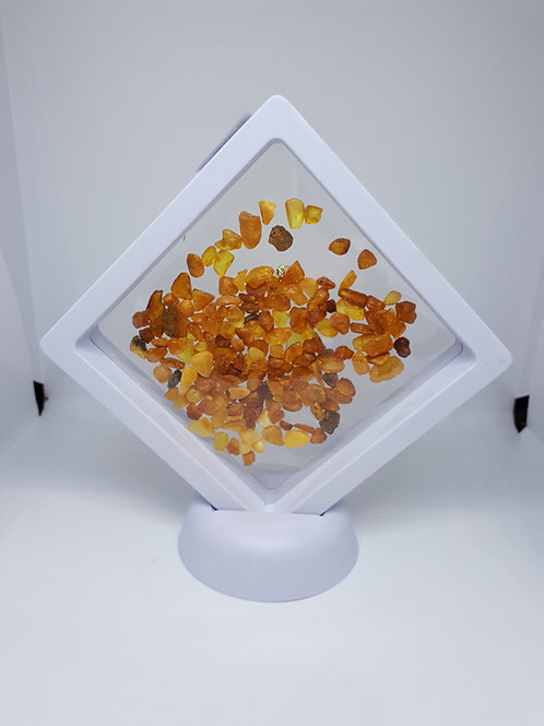 Amber chips in a display