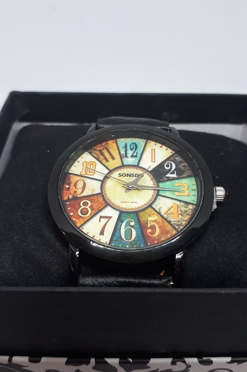 Ladies multi coloured dial watch