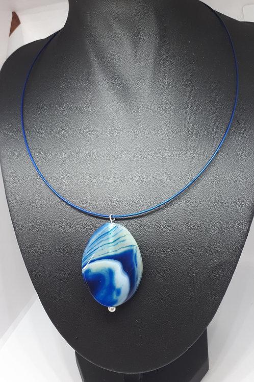 Blue Agate choker necklace