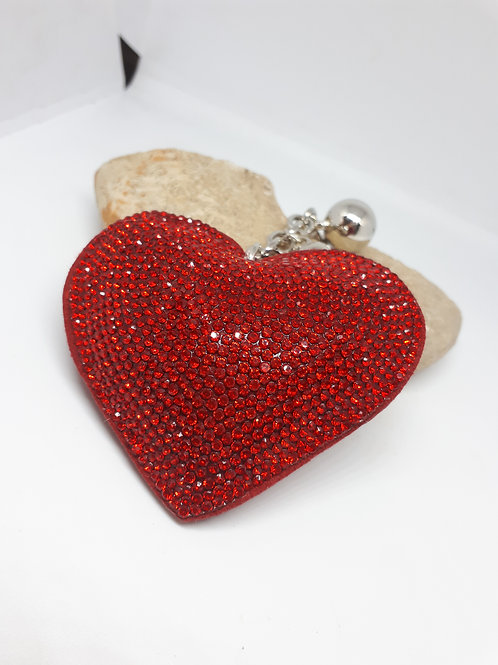 Heart bagcharm
