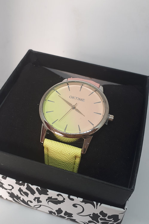 Ladies 2 tone pastel watch