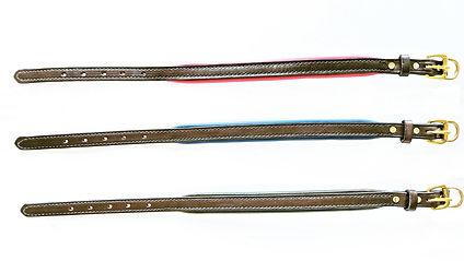 No Name 3 horizontal brown straps w buck