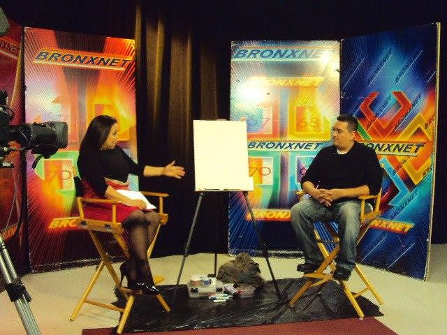 in 2012 Nelson was interviewed and painted LIVE on BRONXNET TV