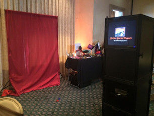 Open photobooth for a 2015 graduation