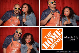 Employee party at Home Depot.