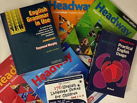 Libros de enseñanza del inglés.