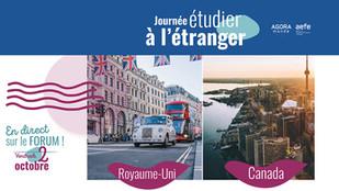 AGORA Monde : Journée Étudier à l'étranger // Royaume-Uni et Canada