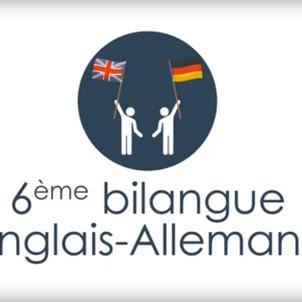 Tout nouveau à la rentrée : la 6ème bilangue Anglais-Allemand