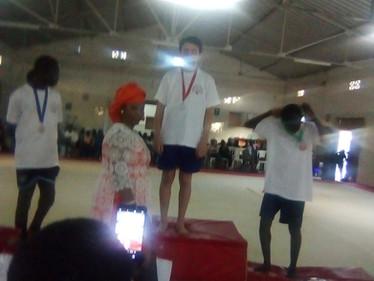 Emile Box, médaille d'or de la finale départementale de gymnastique