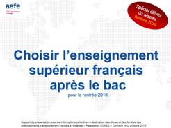 Choisir l'enseignement supérieur en français après le bac