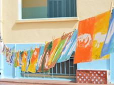 La Grande Lessive du Primaire : les élèves exposent leurs oeuvres