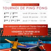 Tournoi de Ping-Pong :  Les vainqueurs !