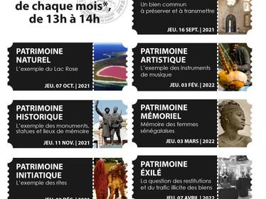 Conférences sur le Patrimoine du Sénégal : demandez le programme !