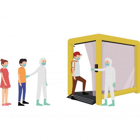 people-social-distancing-queue-get-their