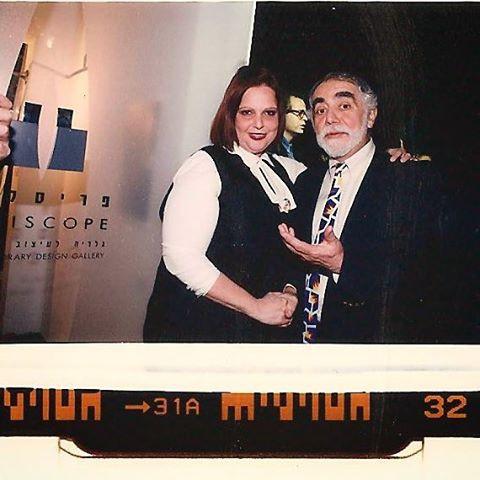 שרי פראן ואיזיקה בערב פתיחת הגלריה בתל אביב