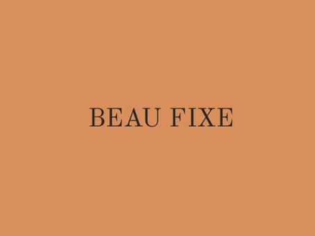BEAU FIXE, label vintage.
