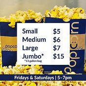 Coyote Twin Popcorn Sales Information.jp