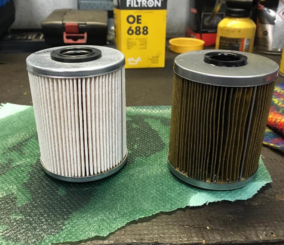 Upchatý palivový filter