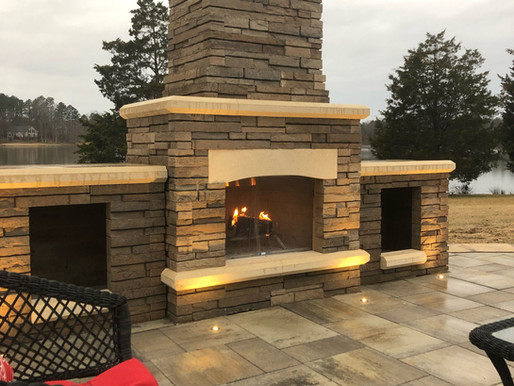 How Outdoor Lighting Can Accentuate Your Outdoor Fireplace This Summer in Vance County, NC