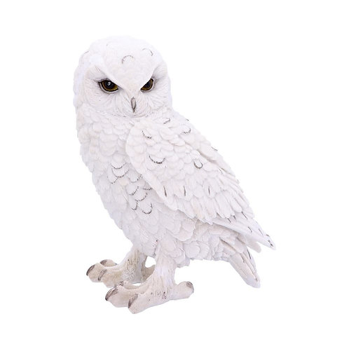 Snowy Watch Large White Owl Ornament 20 cm