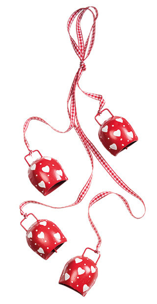 Red & White Iron Bells