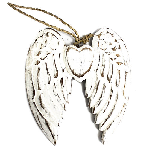 Small Double Angel Wing Hanging Decoration 15 cm