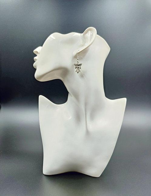 Silver Plated Angel Earrings