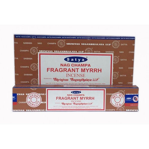 Satya Fragrant Myrrh Incense Sticks 15g