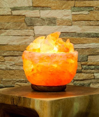 Himalayan salt crystal bowl lamp rough