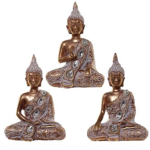 Gold & White Thai Buddha-Meditation