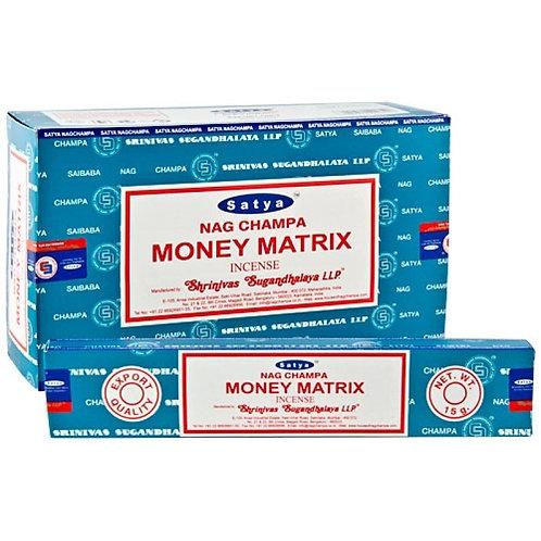 Satya Money Matrix Incense Sticks 15g