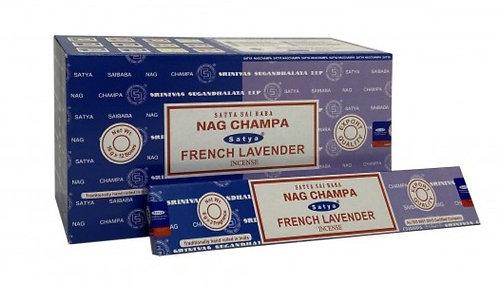 Satya Nag Champa and French Lavender Incense Sticks 16g