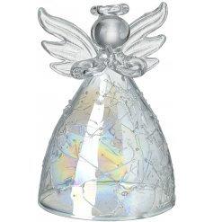 Iridescent Glass Angel Hanging Decoration