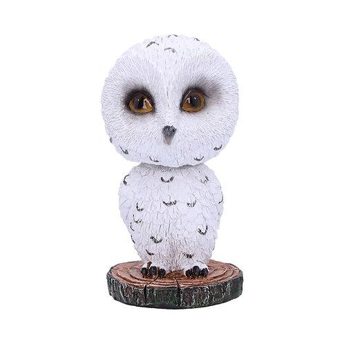 Bobble Beak Snowy Owl Bobble Head Figurine 10.5 cm