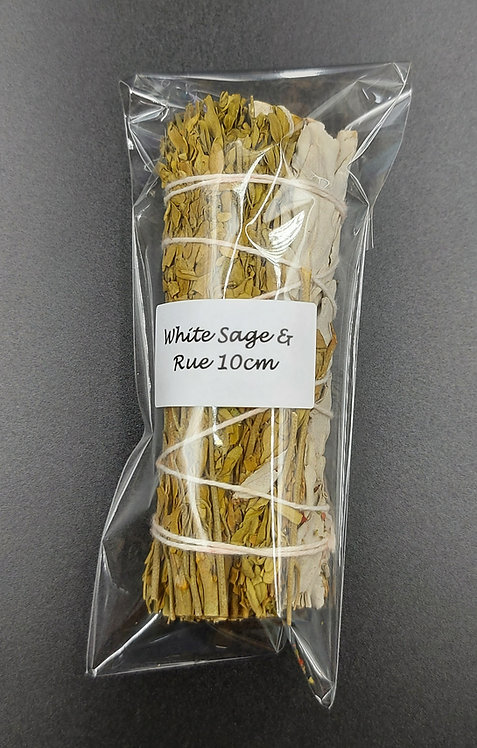 White Sage & Rue Smudge Stick 10cm