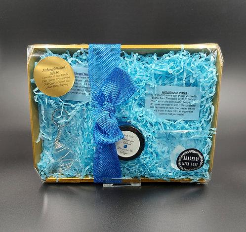 Archangel Michael Candle & Crystal Gift Set