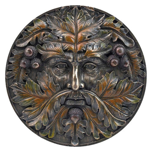 Bronzed Autumn Equinox Tree Spirit Wall Plaque